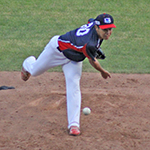 北米遠征選手インタビュー 嘉数 勇人投手(高知ファイティングドッグス) 北米に野球を貫き 「KABUKI SPIRITS!」